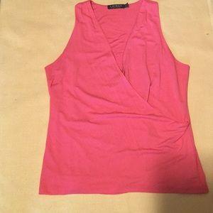 Lauren Ralph Lauren wrap coral blouse. Sz. XL
